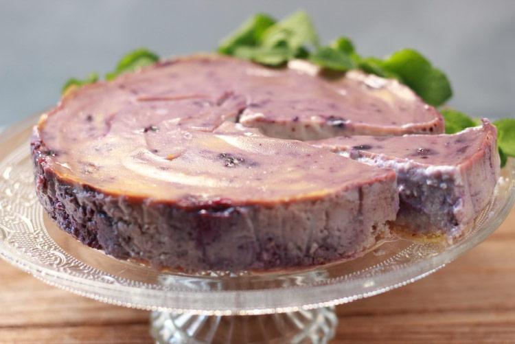 ブルーベリーのベジチーズケーキ